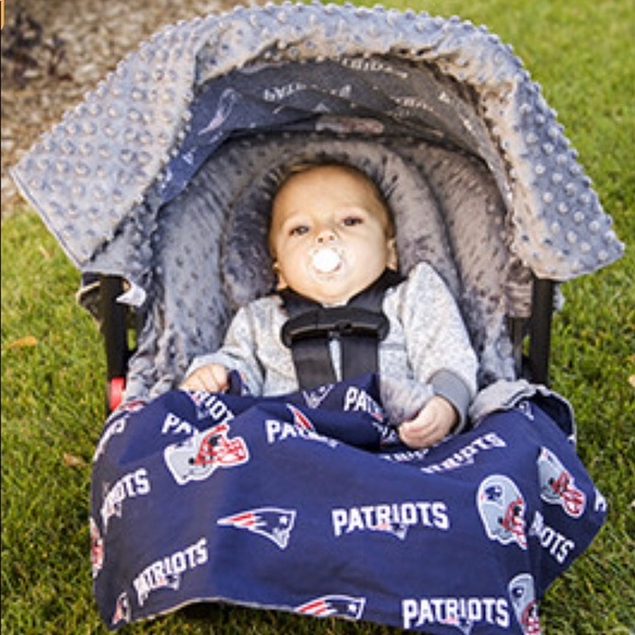 Carseat Canopy Accessories New England Patriots 5 Piece Car Seat